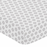 Grey Geometric Aztec Baby or Toddler Fitted Crib Sheet for Woodland Fox Collection by Sweet Jojo Designs