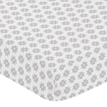 Grey Geometric Tribal Baby or Toddler Fitted Crib Sheet for Aztec Collection by Sweet Jojo Designs
