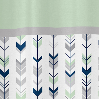 Mint And Grey Shower Curtain. Grey  Navy Blue and Mint Woodland Arrow Kids Bathroom Fabric Bath Shower Curtain by Sweet Jojo Designs only 39 99