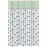 Grey, Navy Blue and Mint Woodland Arrow Kids Bathroom Fabric Bath Shower Curtain by Sweet Jojo Designs