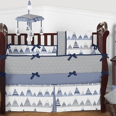 Solid color crib bedding in pink blue more for Mountain crib bedding