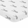 Grey Stag Baby or Toddler Fitted Mini Portable Crib Sheet for Woodland Deer Collection by Sweet Jojo Designs