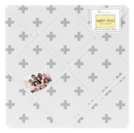 Grey Swiss Cross Fabric Memory Memo Photo Bulletin Board for Woodland Fox Collection by Sweet Jojo Designs