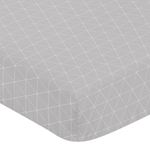 Grey Triangle Baby or Toddler Fitted Crib Sheet for Woodland Fox Collection by Sweet Jojo Designs