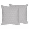 Grey Triangle Decorative Accent Throw Pillows for Mountains Collection by Sweet Jojo Designs - Set of 2