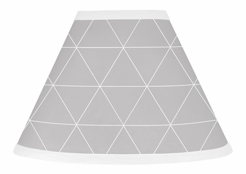 Grey Triangle Lamp Shade for Mountains Collection by Sweet Jojo Designs - Click to enlarge