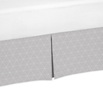 Grey Triangle Pleated Queen Bed Skirt Dust Ruffle for Woodland Fox Collection by Sweet Jojo Designs