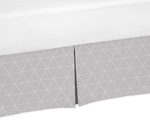 Grey Triangle Pleated Toddler Bed Skirt Dust Ruffle for Woodland Fox Collection by Sweet Jojo Designs