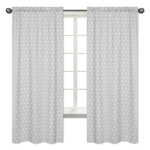 Grey Triangle Window Treatment Panels Curtains for Mountains Collection by Sweet Jojo Designs - Set of 2