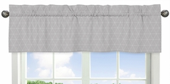 Grey Triangle Window Treatment Valance for Mountains Collection by Sweet Jojo Designs