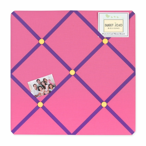 Groovy Fabric Memory/Memo Photo Bulletin Board - Click to enlarge