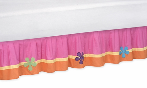 Groovy Queen Kids Children's Bed Skirt by Sweet Jojo Designs - Click to enlarge