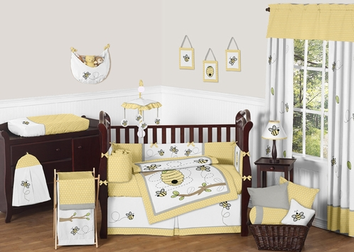 Honey Bee Baby Bedding - 9pc Crib Set by Sweet Jojo Designs - Click to enlarge