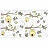 Honey Bee Peel and Stick Wall Decal Stickers Art Nursery Decor by Sweet Jojo Designs - Set of 4 Sheets