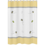Honey Bee Childrens Bathroom Fabric Bath Shower Curtain by Sweet Jojo Designs