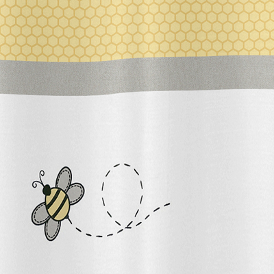 Honey Bee Childrens Bathroom Fabric Bath Shower Curtain By Sweet Jojo Designs Only 3999
