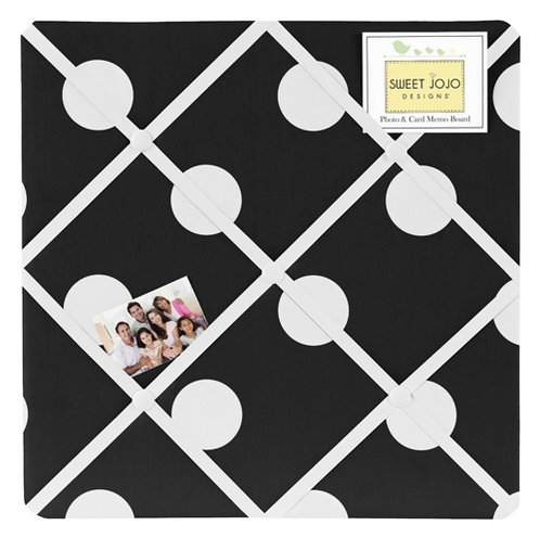 Hot Dot Fabric Memory/Memo Photo Bulletin Board by Sweet Jojo Designs - Click to enlarge
