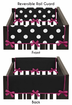 Hot Dot Modern Baby Crib Side Rail Guard Covers by Sweet Jojo Designs - Set of 2