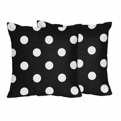Hot Dot Modern Decorative Accent Throw Pillows by Sweet Jojo Designs - Set of 2 - Click to enlarge