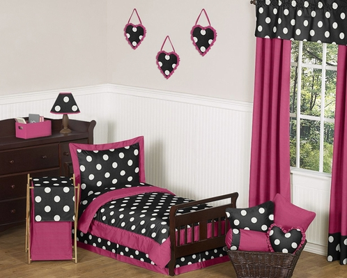 Hot Dot Modern Kids Toddler Bedding by Sweet Jojo Designs - 5pc Set - Click to enlarge