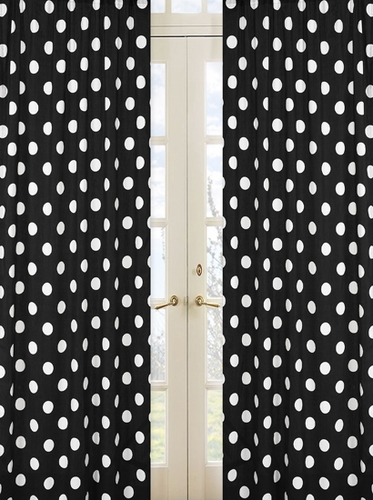 Hot Dot Modern Window Treatment Panels by Sweet Jojo Designs - Set of 2 - Click to enlarge