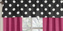 Hot Dot Modern Window Valance by Sweet Jojo Designs