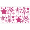 Hot Pink and White Chevron Baby, Childrens and Kids Wall Decal Stickers - Set of 4 Sheets