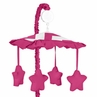 Hot Pink and White Chevron Musical Baby Crib Mobile by Sweet Jojo Designs