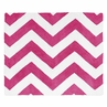 Hot Pink and White Chevron Zig Zag Accent Floor Rug by Sweet Jojo Designs