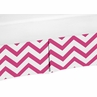 Hot Pink and White�Zig Zag Crib Bed Skirt for Chevron�Baby Bedding Sets by Sweet Jojo Designs