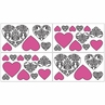 Hot Pink, Black and White Isabella Baby and Kids Wall Decal Stickers - Set of 4 Sheets