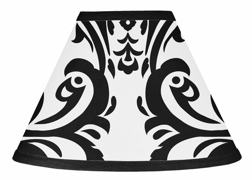 Hot Pink, Black and White Isabella Lamp Shade by Sweet Jojo Designs - Click to enlarge