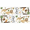 Jungle Adventure Baby and Childrens Animal Wall Decal Stickers - Set of 4 Sheets