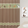 Jungle Adventure Kids Bathroom Fabric Bath Shower Curtain