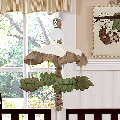 Jungle Adventure Musical Baby Crib Mobile by Sweet Jojo Designs - Click to enlarge