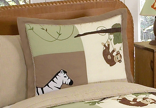 Jungle Adventure Pillow Sham - Click to enlarge