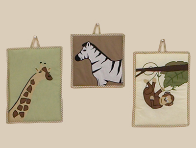 Jungle Adventure Wall Hanging Accessories by Sweet Jojo Designs - Click to enlarge