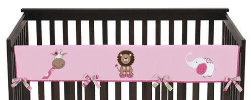 Jungle Friends Baby Crib Long Rail Guard Cover by Sweet Jojo Designs - Click to enlarge