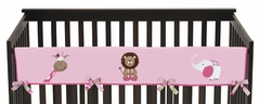 Jungle Friends Baby Crib Long Rail Guard Cover by Sweet Jojo Designs