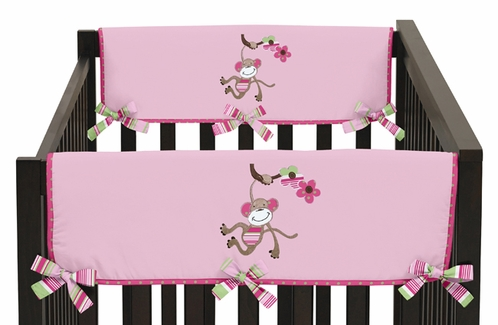 Jungle Friends Baby Crib Side Rail Guard Covers by Sweet Jojo Designs - Set of 2 - Click to enlarge