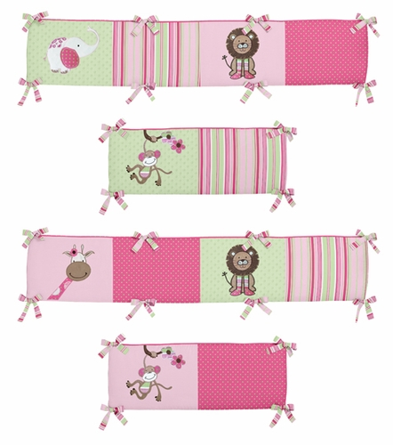 Jungle Friends Collection Crib Bumper by Sweet Jojo Designs - Click to enlarge