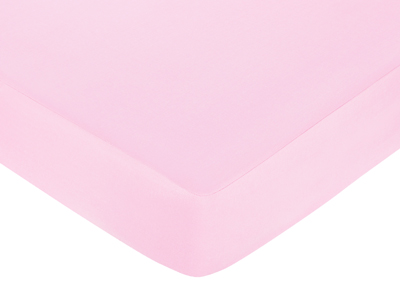 Jungle Friends Fitted Crib Sheet for Baby/Toddler Bedding Sets - Pink - Click to enlarge