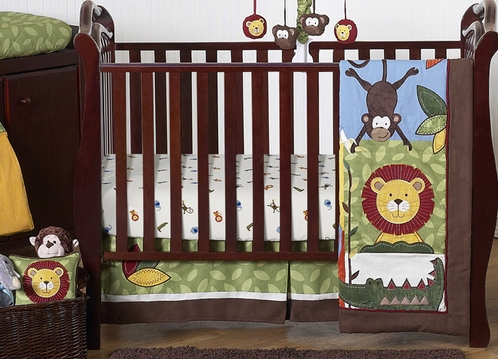 Jungle Time Baby Bedding - 11pc Crib Set - Click to enlarge