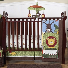 Jungle Time Baby Bedding - 4pc Crib Set