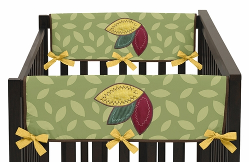 Jungle Time Baby Crib Side Rail Guard Covers by Sweet Jojo Designs - Set of 2 - Click to enlarge