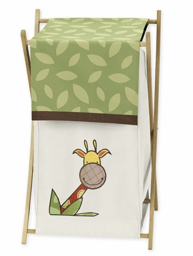 Jungle Time Baby/Kids Clothes Laundry Hamper for Jungle Time Bedding - Click to enlarge