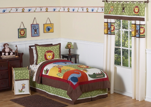 Jungle Time Children & Kids Bedding - 4 pc Twin Set - Click to enlarge