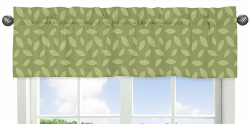 Leaf Print Window Valance for Jungle Time Collection by Sweet Jojo Designs - Click to enlarge