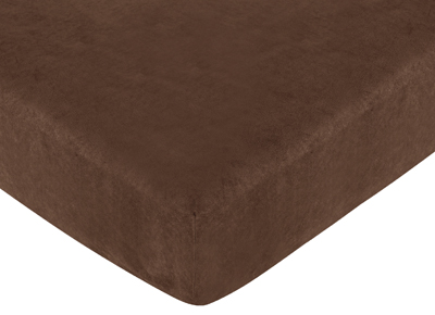 Jungle Time Fitted Crib Sheet for Baby and Toddler Bedding Sets - Brown Microsuede - Click to enlarge