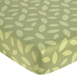 Jungle Time Fitted Crib Sheet for Baby and Toddler Bedding Sets - Green Leaf Print